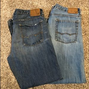 2 pair of men's American Eagle Bootcut Jeans